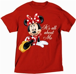 all about minnie t shirt. Black Bedroom Furniture Sets. Home Design Ideas